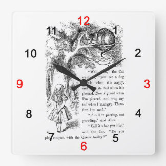 """The wall-mounted clock """"of Alice of the country of"""