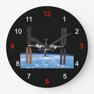 """The wall-mounted clock """"of International Space Sta"""