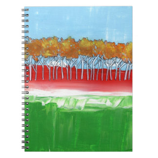 The Wall of Trees Spiral Notebook