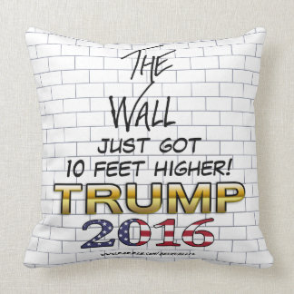 The Wall of Trump 2016 pillow