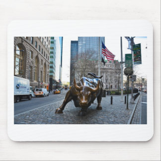 The Wall St Bull Mouse Pad