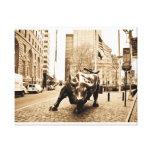 """The Wall Street Bull"" Canvas Print"