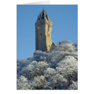 The Wallace Monument Stirling Scotland in winter Card