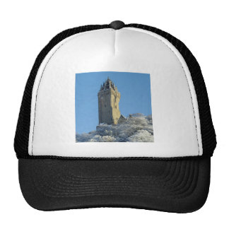 The Wallace Monument Stirling Scotland in winter Hat