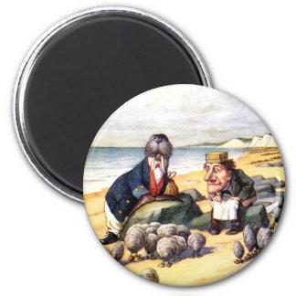 THE WALRUS AND THE CARPENTER IN WONDERLAND MAGNET