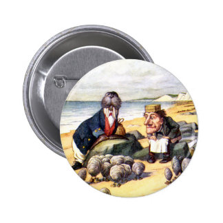 THE WALRUS AND THE CARPENTER IN WONDERLAND PINBACK BUTTON