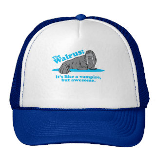 The Walrus Vampire Trucker Hats