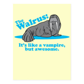 The Walrus Vampire Postcard
