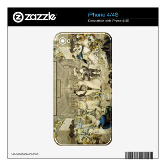 The Waltz (coloured engraving) Decal For iPhone 4