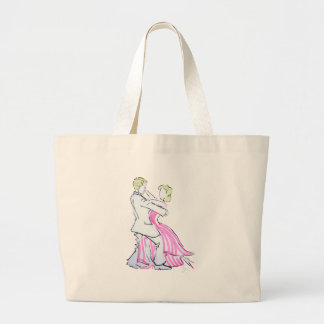 The Waltz Dancers Graphic design Large Tote Bag