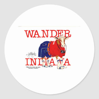 The Wander Indiana Cow Classic Round Sticker