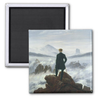 The Wanderer above the Sea of Fog, 1818 2 Inch Square Magnet