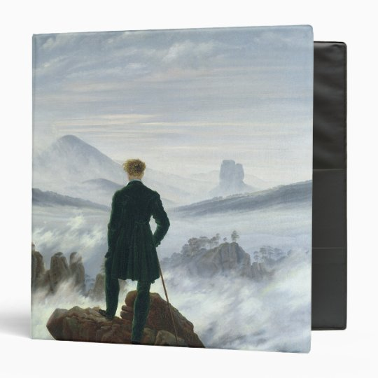 The Wanderer above the Sea of Fog, 1818 3 Ring Binder