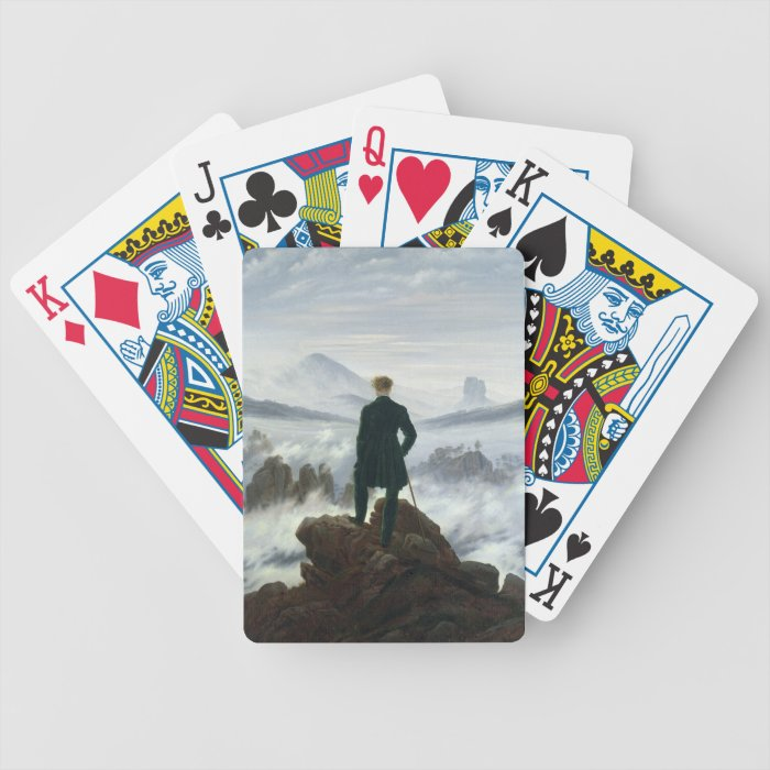 The Wanderer above the Sea of Fog, 1818 Bicycle Playing Cards