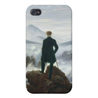 The Wanderer above the Sea of Fog, 1818 Covers For iPhone 4