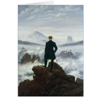 The Wanderer above the Sea of Fog, 1818 Greeting Card