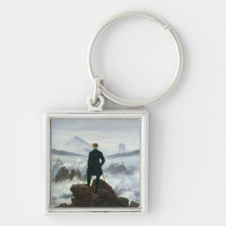 The Wanderer above the Sea of Fog, 1818 Keychain