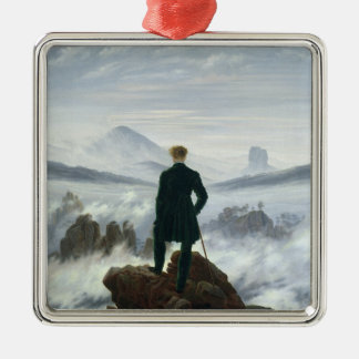 The Wanderer above the Sea of Fog, 1818 Metal Ornament