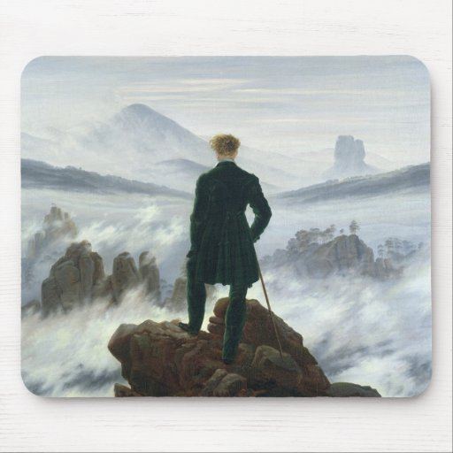 The Wanderer above the Sea of Fog, 1818 Mousepad