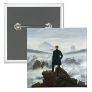 The Wanderer above the Sea of Fog, 1818 Pinback Button