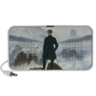 The Wanderer above the Sea of Fog, 1818 Portable Speakers