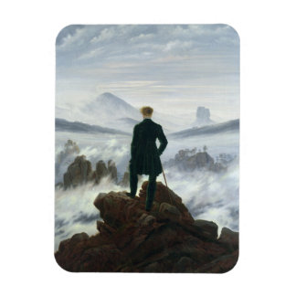 The Wanderer above the Sea of Fog, 1818 Rectangular Photo Magnet