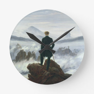 The Wanderer above the Sea of Fog, 1818 Round Clock