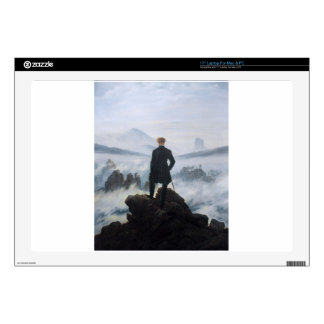 """The wanderer above the sea of fog by Caspar David 17"""" Laptop Decals"""