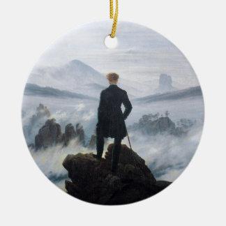 The wanderer above the sea of fog by Caspar David Ceramic Ornament