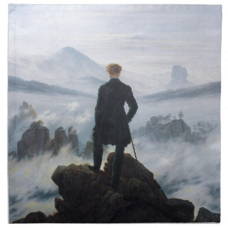 The wanderer above the sea of fog by Caspar David Cloth Napkin