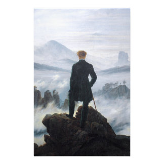The wanderer above the sea of fog by Caspar David Stationery
