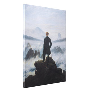 The wanderer above the sea of fog canvas print