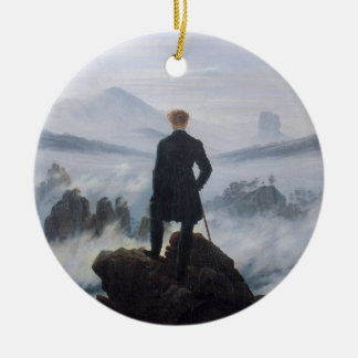 The wanderer above the sea of fog ceramic ornament