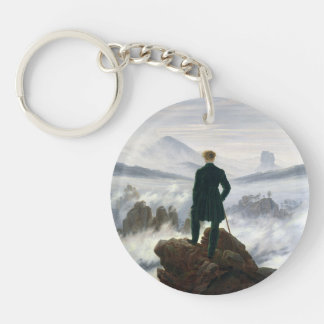 The Wanderer above the Sea of Fog Double-Sided Round Acrylic Keychain