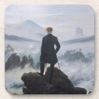 The wanderer above the sea of fog drink coaster