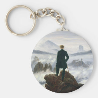 The Wanderer above the Sea of Fog Basic Round Button Keychain