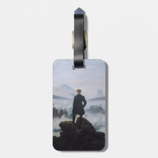 The wanderer above the sea of fog luggage tag