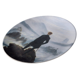 The wanderer above the sea of fog porcelain plates