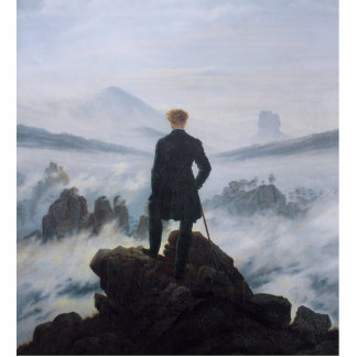 The wanderer above the sea of fog photo cut outs