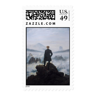 The wanderer above the sea of fog stamp