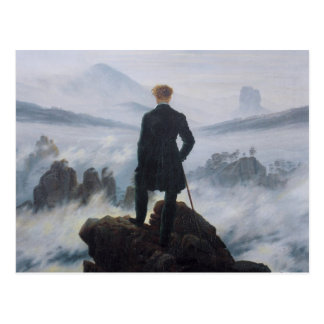 The wanderer above the sea of fog postcards