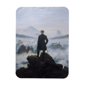The wanderer above the sea of fog flexible magnet