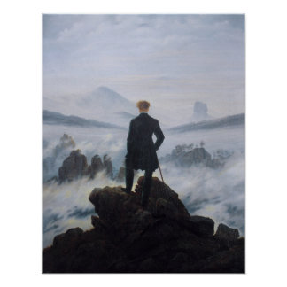 The wanderer above the sea of fog print