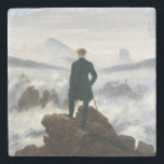"The Wanderer above the Sea of Fog Stone Coaster<br><div class=""desc"">The Wanderer above the Sea of Fog by Caspar David Friedrich,  1818.</div>"