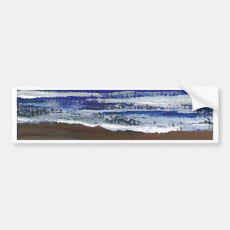 The Wandering CricketDiane Ocean Beach Art Bumper Sticker