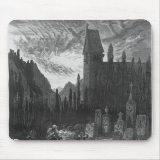 The Wandering Jew in the cemetery Mouse Pad