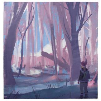 The Wandering Wanderer Cloth Napkin