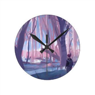 The Wandering Wanderer Round Clock