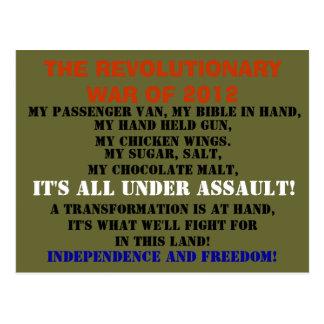 The War of 2012 Postcard