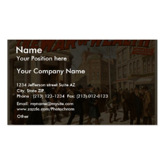 The War of Wealth, 'The run on the Bank' Vintage T Double-Sided Standard Business Cards (Pack Of 100)